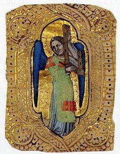Angel with Portative Organ Cristoforo Cortese (Venetian, active ca. 1390 - died before 1445) ca. 1401-1407. MET, NYC