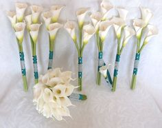 Calla lily wedding bouquet simple elegant Real touch mini white calla lily bridal bouquet