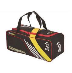 BRAND NEW JUNIOR KIDS KOOKABURRA PRO 300 CRICKET BAG (BLACK/RED/YELLOW) Cricket, Gym Bag, Sportswear, Brand New, Yellow, Red, Stuff To Buy, Bags, Handbags