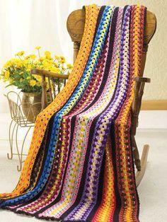 scrap yarn afghan - free pattern