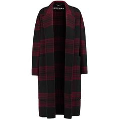 Rochas Two-tone plaid wool and mohair-blend coat (9 675 SEK) ❤ liked on Polyvore featuring outerwear, coats, jackets, claret, petite coats, petite wool coat, wool coats, woolen coat and rochas