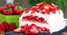 It's the perfect strawberry dessert to celebrate Mother's Day with this Strawberry Shortcake Icebox Cake! And what better way to enjoy the beginning of strawberry season than to have Mom enjoy a beloved American classic done with a new spin with layers of vanilla whipped cream, graham crackers, strawberries and vanilla whipped cream frosting. She will love it!