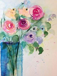 Colorful Rose Bouquet by Britta Zehm
