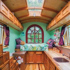 Tiny house community gypsy wagon interior, gypsy caravan interiors, small c Tiny House Community, Simply Home, Casas Containers, Bus House, Remodeled Campers, Tiny House Living, Tiny House Design, House On Wheels, Lofts