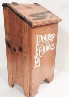 Vintage Taters Amp Onions Wooden Vegetable Bin Box Crate