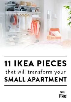 Ikea pieces that will transform your small apartment #ikeahacks