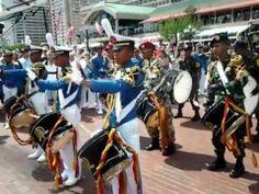The Dewaruci crew performing at Baltimore Sailabration