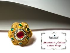 Ahmedabadi Antiques Live Now. Gold Finger Rings, Gold Jewelry, Jewellery, Plaster, Cocktail Rings, Class Ring, Jewels, Live, Antiques