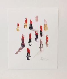 Lipstick Studies | Limited Edition Art Print | Paperfashion