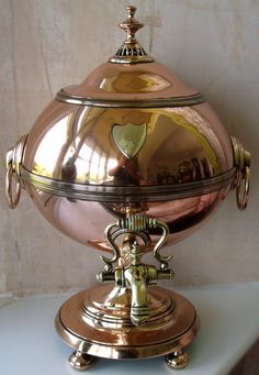 Antique English Georgian Copper Samovar (c.1785)