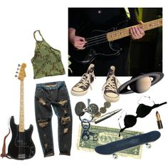 i used to play the bass by silencedsunflower on Polyvore featuring OneTeaspoon, Sonia Rykiel, Converse and AllSaints