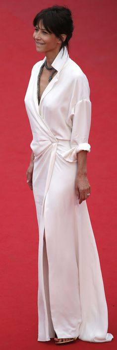 Sophie Marceau Cannes Festival Red Carpet Style by The Blonde Salad