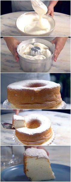 Esse BOLO NUVEM é um dos melhores bolos que já comi na vida! (veja a receita passo a passo) #bolo #bolonuvem #tastemade