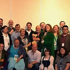 Closer view of the guests & VIP badge holders at #timegate2016 I'm in the back next to Paul McGann & Terry Malloy. #TimeGate #DoctorWho