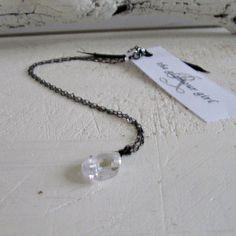 Clear cubic zirconia teardrop pendant R202 by barzel on Etsy, $49.00