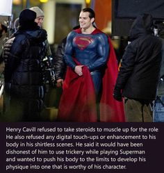 No Doubt He Deserves To Be Superman (and he doesn't need any retouching; that man is beautiful!)