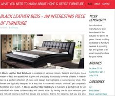 http://homeandofficefurniture.weebly.com/blog/black-leather-beds-an-interesting-piece-of-furniture Black Leather Bed Salisbury Black leather bed adds a sense of class to your bedroom.