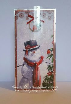 Made using Hunkydory Crafts The Joy of Christmas Deco-Large for the DT