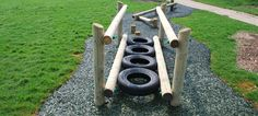 • TYRE RUN • Red Monkey - OutDoor Play Equipment and Wooden Play Equipment