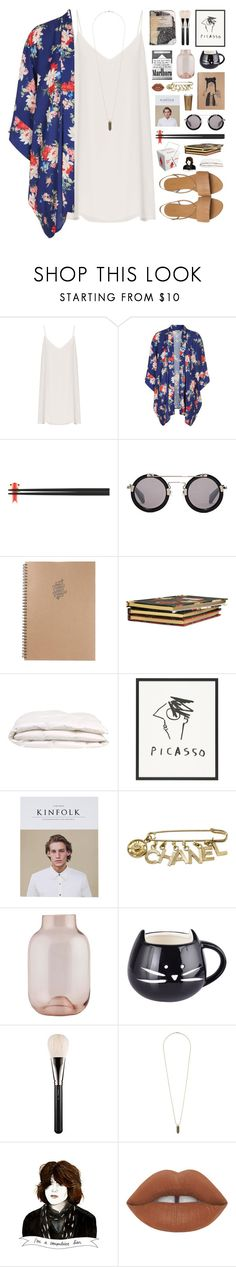 """""""lights at night"""" by karm-a ❤ liked on Polyvore featuring Raey, Love, Alessi, Yohji Yamamoto, Plane, H&M, Chanel, House Doctor, MAC Cosmetics and Topshop"""
