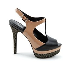 """Jessica Simpson """"Elso"""" in Black/Nude"""