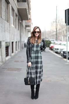 Lady Addict wearing #Sisterjane. Find the Long Check Dress here: http://t1p.de/jx82