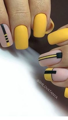 In search for some nail designs and ideas for your nails? Listed here is our listing of must-try coffin acrylic nails for trendy women. Dream Nails, Love Nails, My Nails, Stylish Nails, Trendy Nails, Yellow Nail Art, Nails Polish, Minimalist Nails, Cute Acrylic Nails
