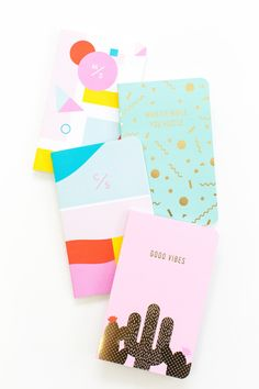 sugar and cloth colourful notebook collection | stationery