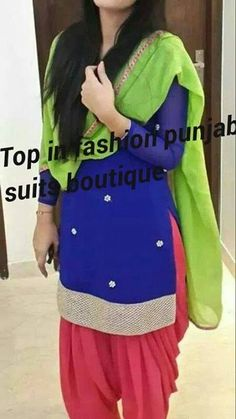 To order this dress, whatsapp Patiala Dress, Patiala Salwar Suits, Punjabi Dress, Punjabi Suits, Patiala Pants, Indian Suits, Indian Attire, Indian Dresses, Indian Wear