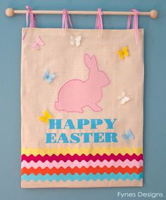 Cute Easter Bunny Wall Hanging Tutorial | FYNES DESIGNS
