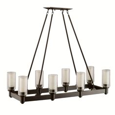 Eight Light Olde Bronze Up Chandelier : SKU V2-2943oz   Connecticut Lighting Centers