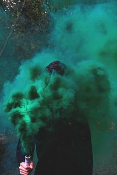 There's some beautiful dark green colours in this image. Dark green home decor l Dark green decor l Dark green bedroom inspiration Dark Green Aesthetic, Rainbow Aesthetic, Aesthetic Colors, Green Aesthetic Tumblr, Warlock Class, Smoke Flares, Smoke Bomb Photography, Photography Ideas, Nature Photography