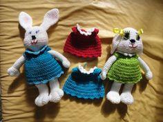 Teia de Carinhos: Variação de guarda roupa da coelhinha