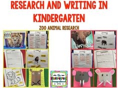 Research And Writing In Kindergarten: Zoo Animals!
