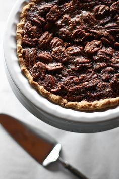 Southern pecan pie -- Simple, sweet and delicious.  (pic only)