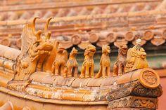 roof decoration, forbidden city, beijing, china