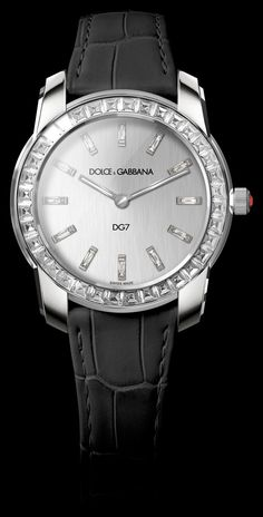 fdc3979478b Women s watch 18kt white gold with embedded ruby and diamonds. Silver satin  dial and glossy