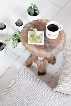 Interior • Plants • Sukkulenten • Cactus • Wood • Cushion • White • Scandinavian • Cup • Coffee