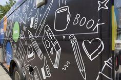 Brooklyn public library bus wraps - Car wraps NYC #bus #wrap #design #car #wrap Large Format Printing, Car Wrap, Brooklyn, Wraps, Public, Nyc, Neon Signs, City, Prints