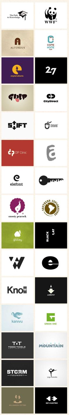 Negative Space Logo Designs