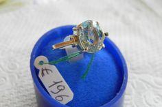 anello argento e.oro con acquamarina di libertygioielly su Etsy, €120.00