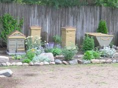 Love the combination of all the different kinds of hives.