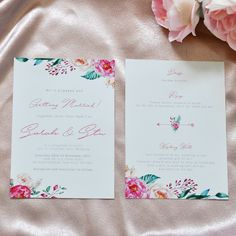 Spring Wedding Watercolour Floral Wedding Invitation and RSVP card.  Get your custom wedding stationery here: www.studiosand.com.au Watercolor Wedding, Floral Watercolor, Watercolour, Stationery Design, Wedding Stationery, Wedding Invitations, Spring Wedding, Floral Wedding, Rsvp