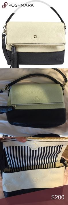 Kate spade cross body Cross body bag with optional strap and magnetic flap closure. 7.1x9.4x3.9 Pebbled cowhide  Southport avenue mini Maria Retail: $348.00 Brand new, never used. No tags kate spade Bags Crossbody Bags
