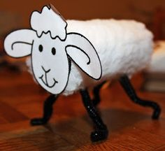 Preschool Crafts for Kids*: Sheep Toilet Roll Craft
