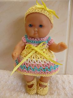 """#Crochet set for a 5"""" #berenguer/ooak doll, View more on the LINK: http://www.zeppy.io/product/gb/2/172441072555/"""