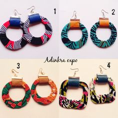 African print and leather Earrings by AdinkraExpo on Etsy. Ankara earrings/ ankara print / african jewelry / ankara accessories