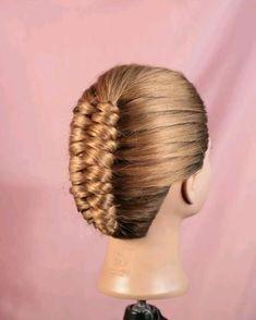 Infinity Braid, Hairdo For Long Hair, Short Hair Updo, Pretty Braided Hairstyles, Braided Updo, Hair Style Vedio, Shaggy Short Hair, Short Hair Styles, Braids