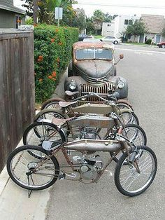 Board track style motorcycles | Rigid frame