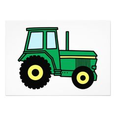 Free Tractor Clip Art of Free tractor clip art farm equipment clipart image for your personal projects, presentations or web designs. Tractor Birthday, Boy Birthday, Cake Birthday, Tractor Clipart, John Deere Party, Farm Fun, Green Monsters, John Deere Tractors, Masculine Cards
